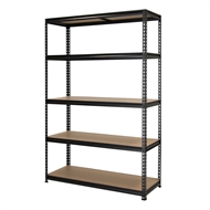Pinnacle 1830 x 1200 x 410mm Black 5 Shelf Shelving Unit