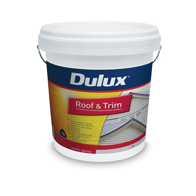 Dulux Roof And Trim 10l White Semi Gloss Paint Bunnings Warehouse
