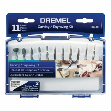 Dremel 689 11 Piece Carving And Engraving Mini Accessory Kit